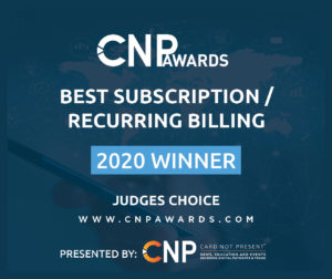 CNPAwards Judges Choice Best Subscription Recurring Billing